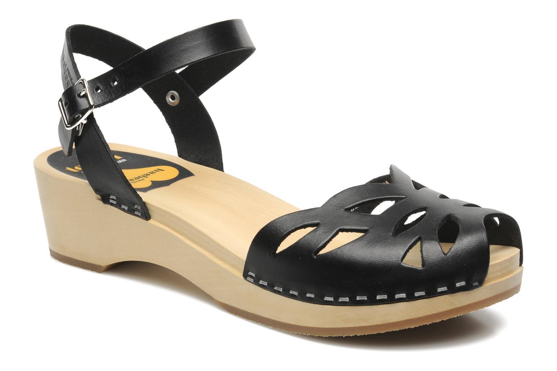Sandales et nu-pieds Swedish Hasbeens Ornament clog Noir vue détail/paire