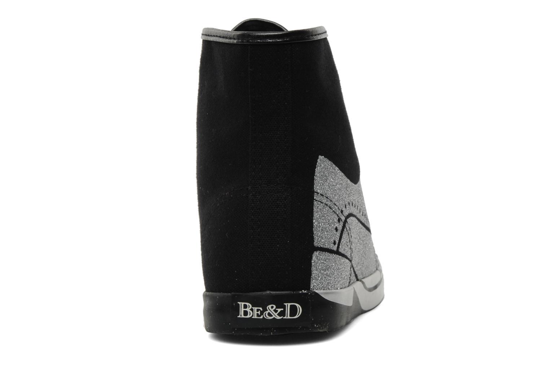 Baskets Be&D Wingtip Noir vue droite
