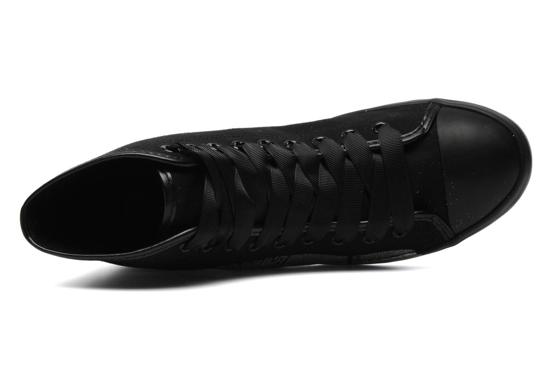 Baskets Be&D Wingtip Noir vue gauche