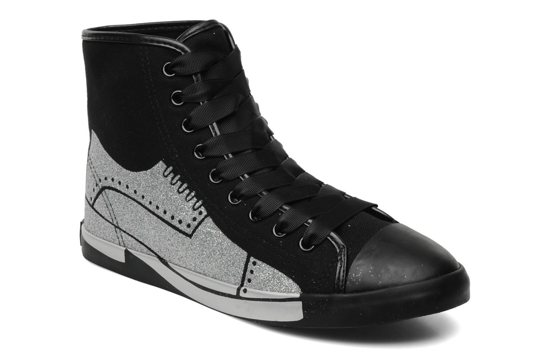Sneakers Be&D Wingtip Zwart detail