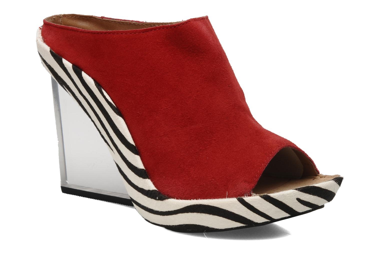 Reina Red suede/Zebra
