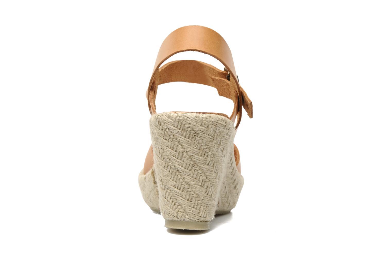 Sandales et nu-pieds Quiksilver Georgiana Marron vue droite
