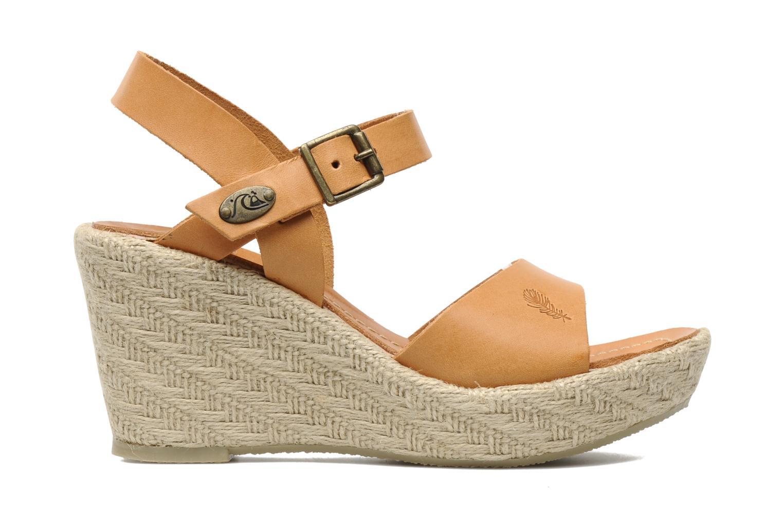 Sandales et nu-pieds Quiksilver Georgiana Marron vue derrière