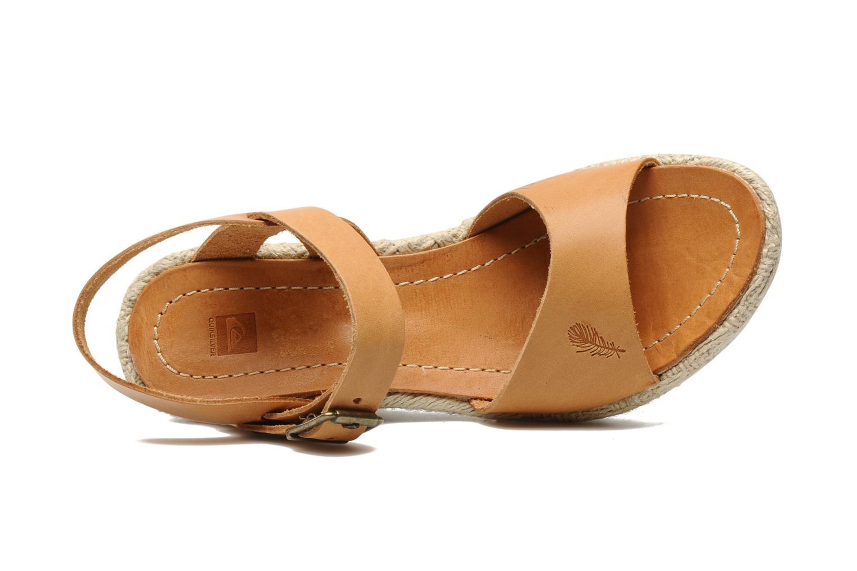 Sandales et nu-pieds Quiksilver Georgiana Marron vue gauche