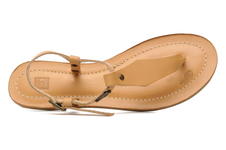 Sandales et nu-pieds Quiksilver Bloomsdale Beige vue gauche