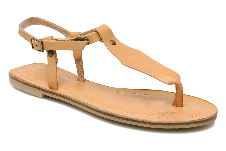 Sandales et nu-pieds Quiksilver Bloomsdale Beige vue détail/paire