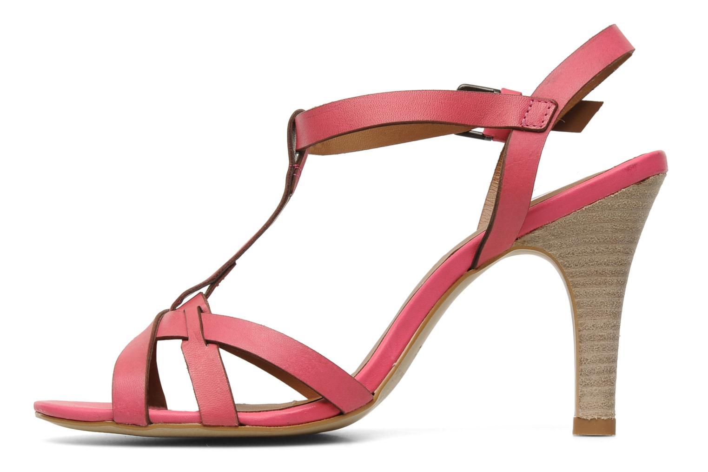 Sandales et nu-pieds Pastelle Capucine Rose vue face