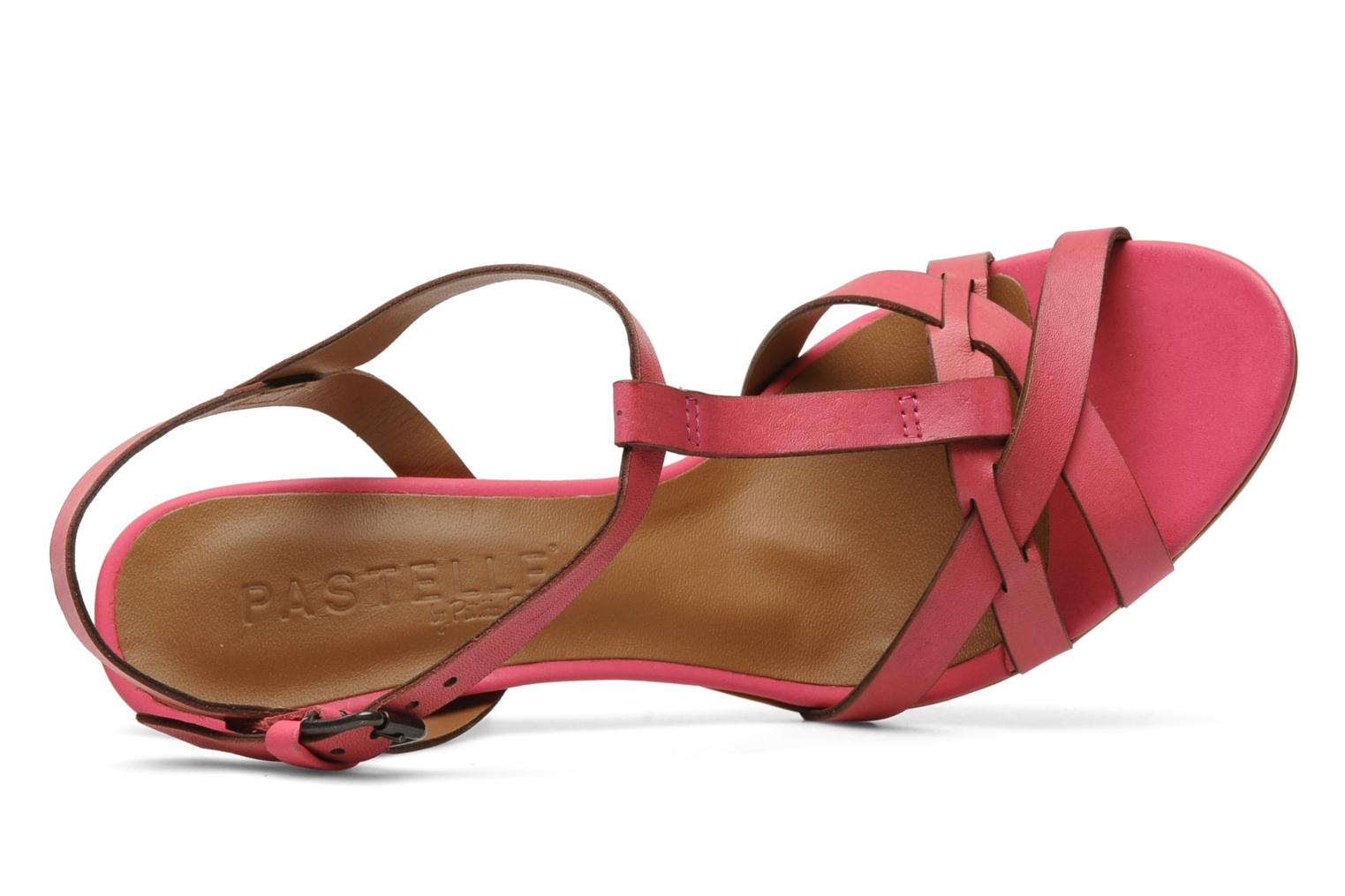 Sandals Pastelle Capucine Pink view from the left