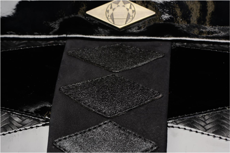 Handtaschen Mohekann Navajo schwarz ansicht von links