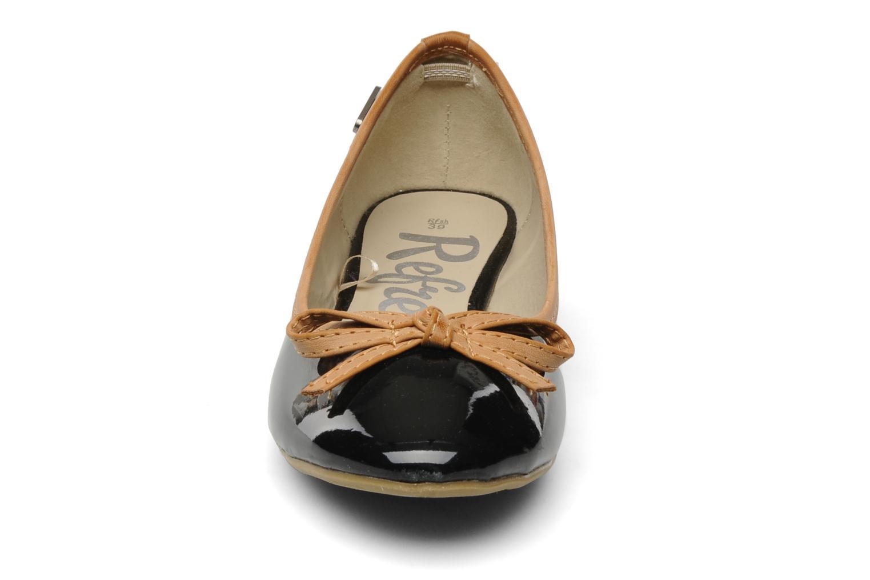 Ballerines Refresh PERONO Noir vue portées chaussures