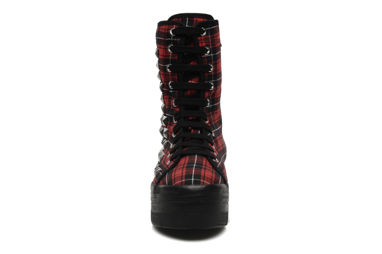 Bottines et boots Jeffrey Campbell Lockness Rouge vue portées chaussures