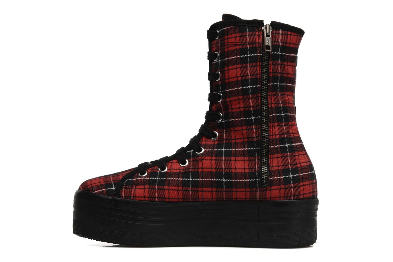 Bottines et boots Jeffrey Campbell Lockness Rouge vue face