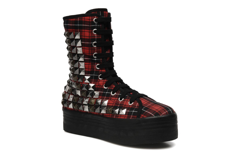 Bottines et boots Jeffrey Campbell Lockness Rouge vue détail/paire
