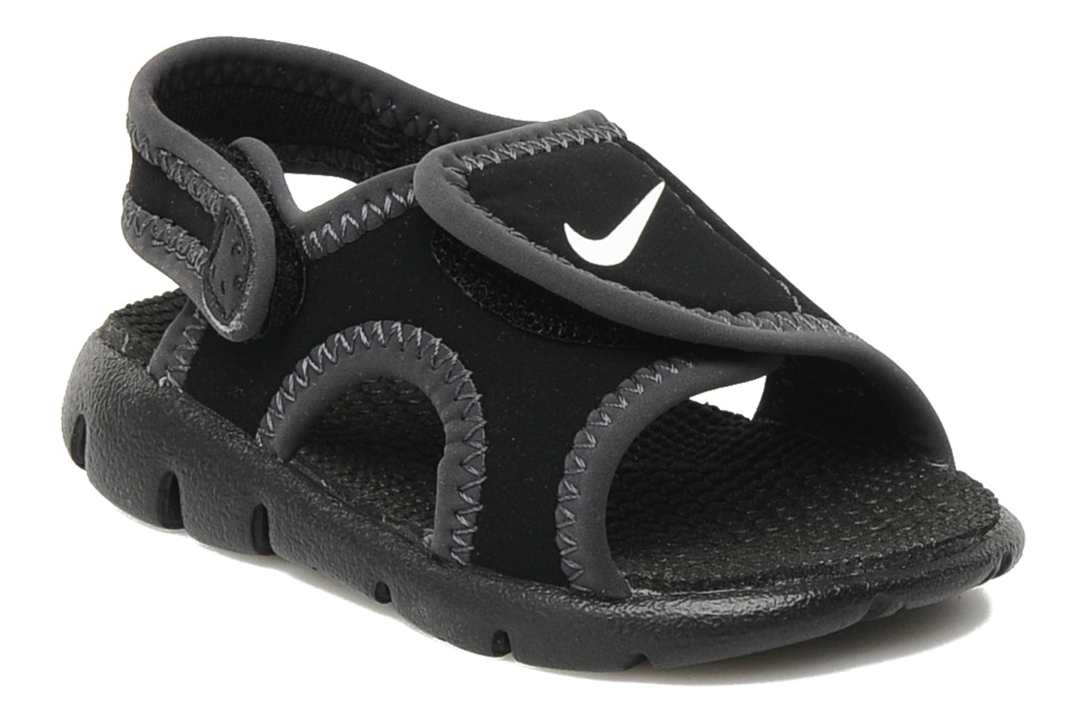 Sandals Nike Sunray Adjust 4 (Td) Black detailed view/ Pair view