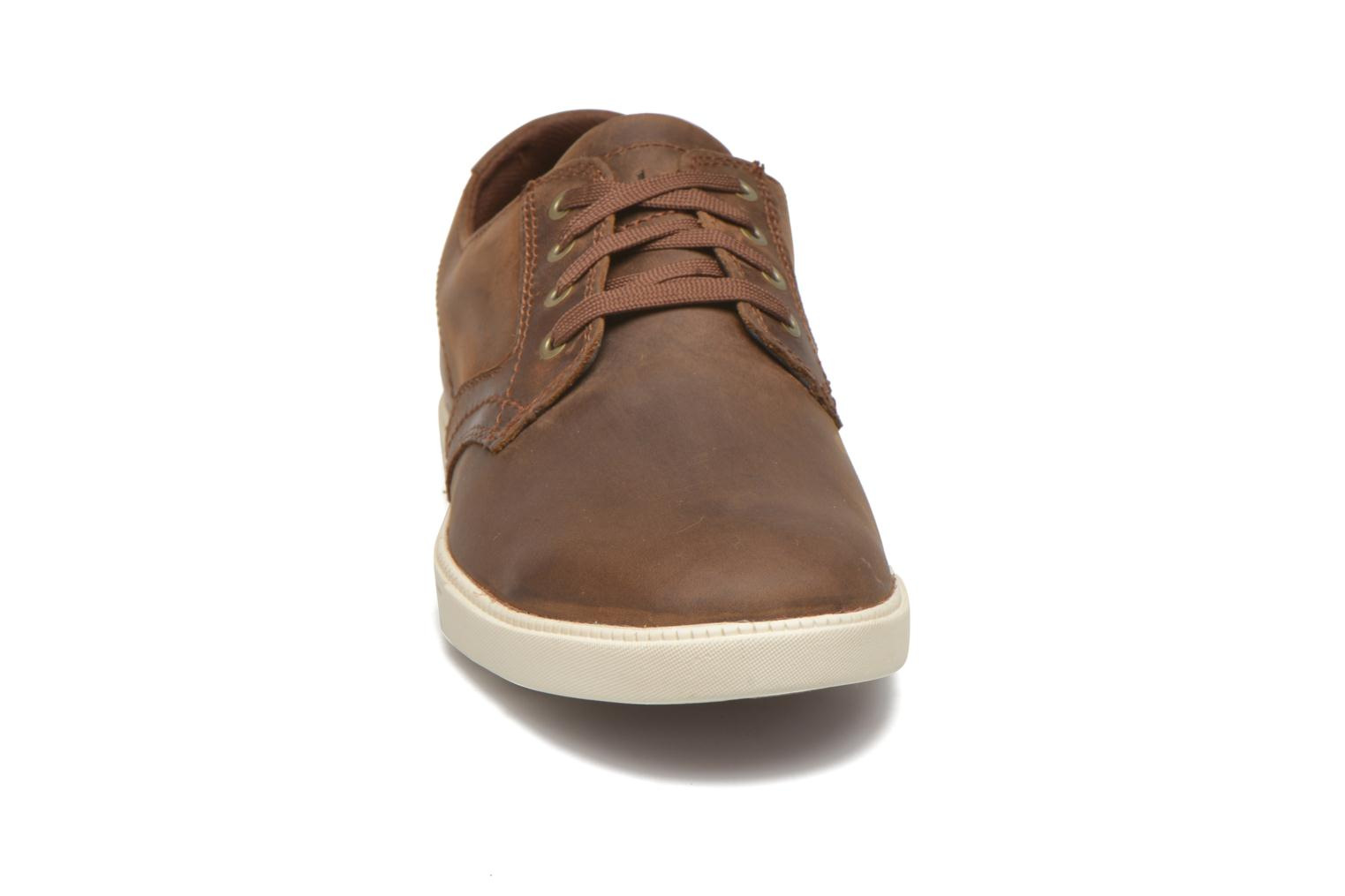 Chaussures à lacets Timberland Earthkeepers Newmarket LP Ox Marron vue portées chaussures