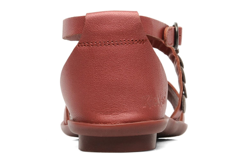 Sandalen Kickers ZEBRAH Rood rechts