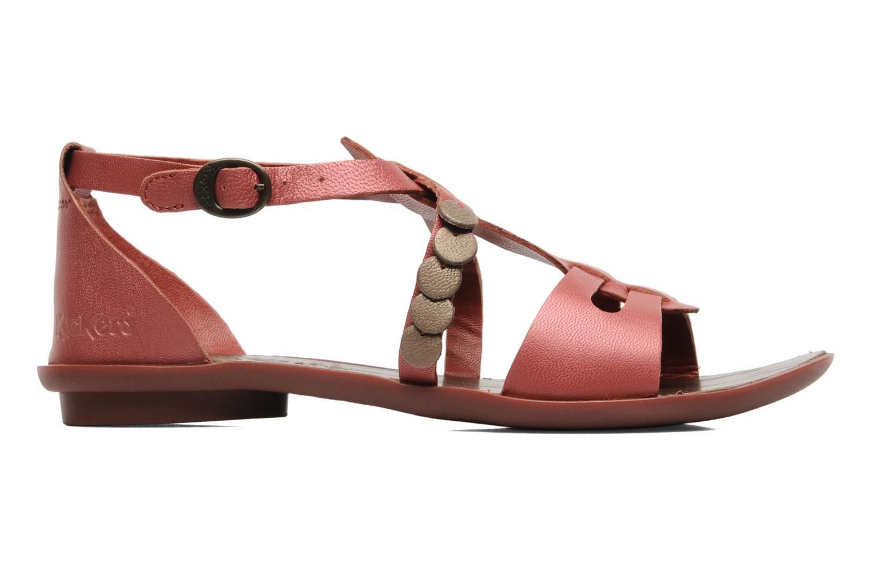 Sandalen Kickers ZEBRAH Rood achterkant