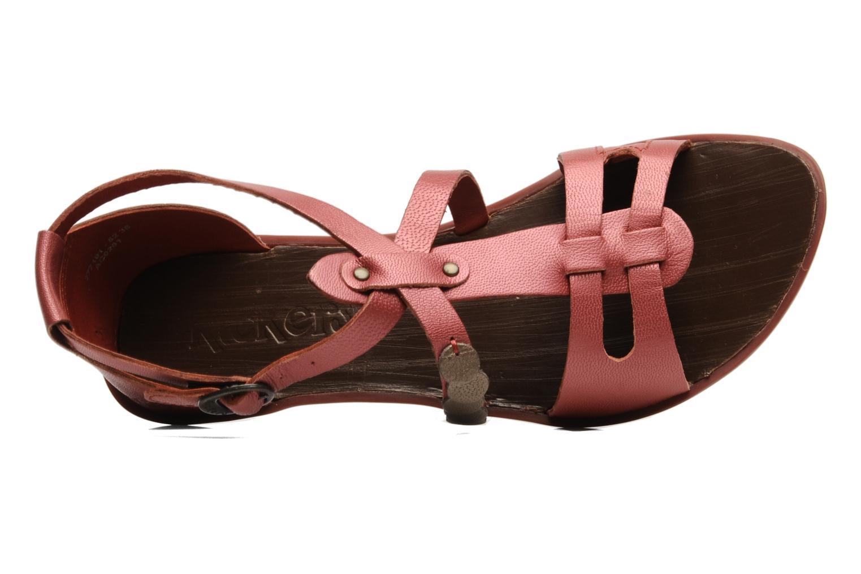 Sandales et nu-pieds Kickers ZEBRAH Rouge vue gauche