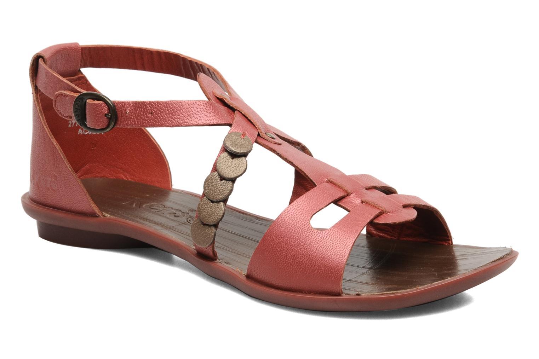 Sandales et nu-pieds Kickers ZEBRAH Rouge vue détail/paire