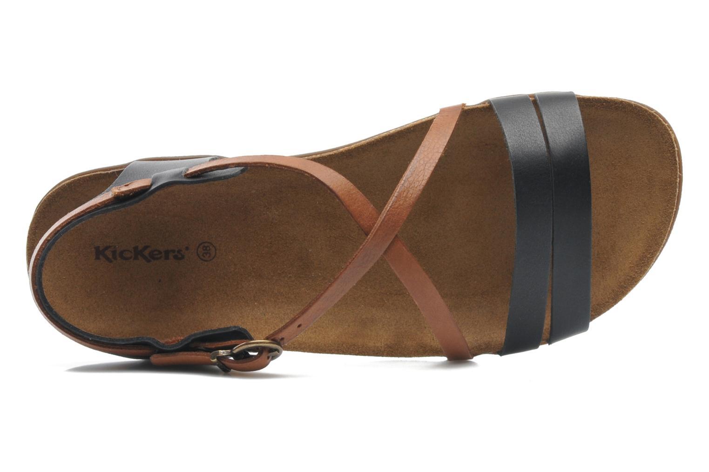 Sandalen Kickers Atomium mehrfarbig ansicht von links