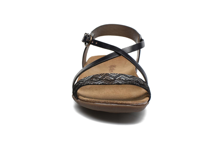 Sandales et nu-pieds Kickers Atomium Noir vue portées chaussures