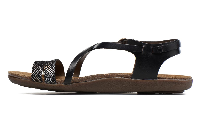 Sandales et nu-pieds Kickers Atomium Noir vue face