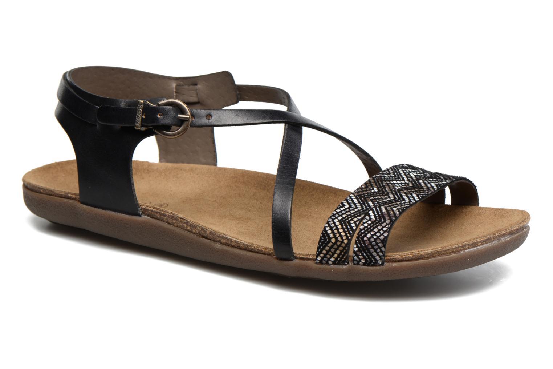 Sandales et nu-pieds Kickers Atomium Noir vue détail/paire
