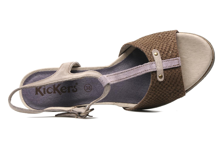 Sandalen Kickers MEREDITH Bruin links
