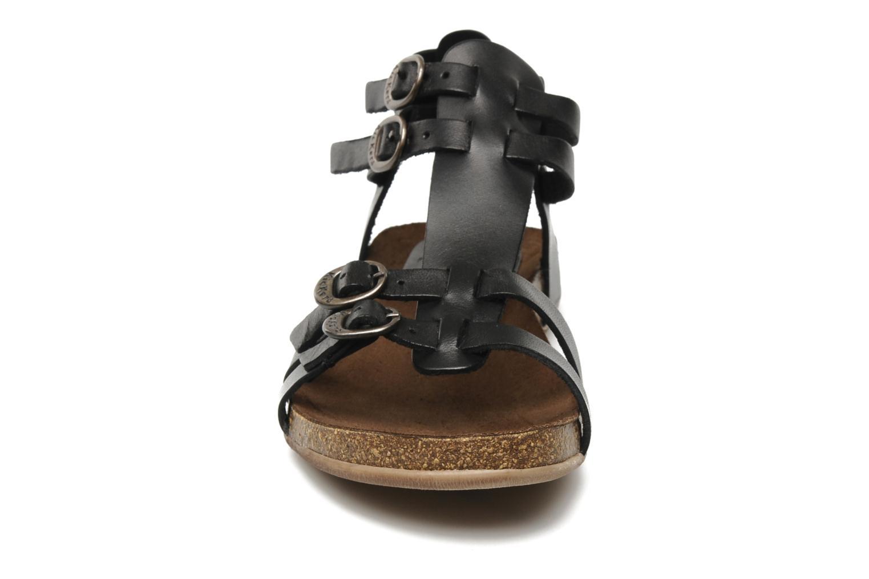 Sandales et nu-pieds Kickers Ana Noir vue portées chaussures