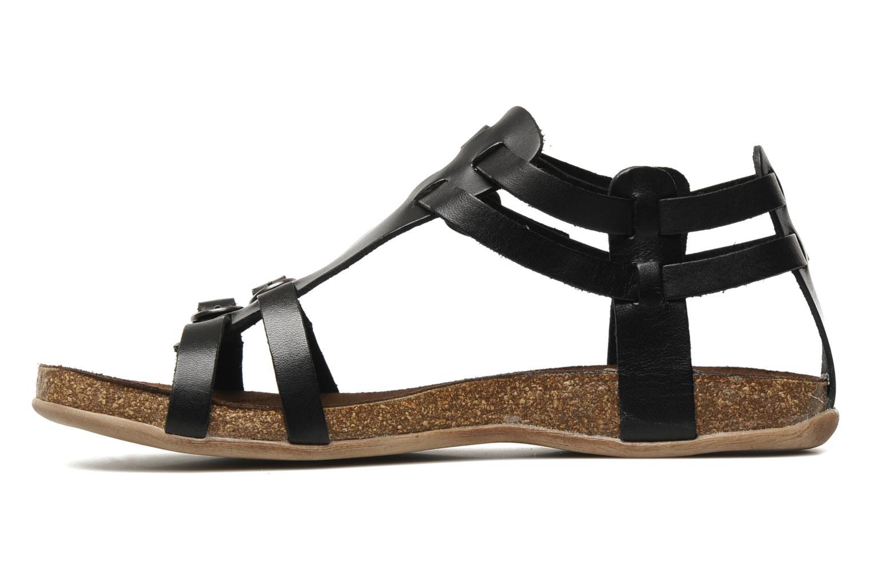 Sandales et nu-pieds Kickers Ana Noir vue face