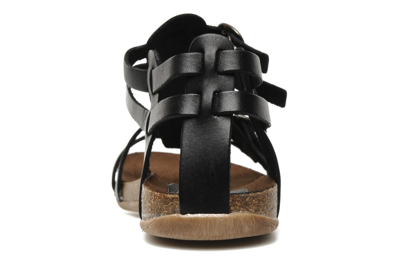 Sandales et nu-pieds Kickers Ana Noir vue droite