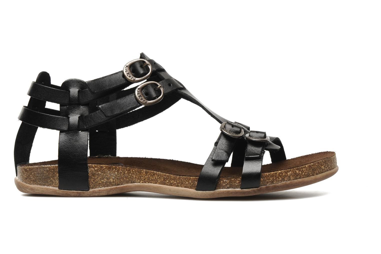 Sandales et nu-pieds Kickers Ana Noir vue derrière
