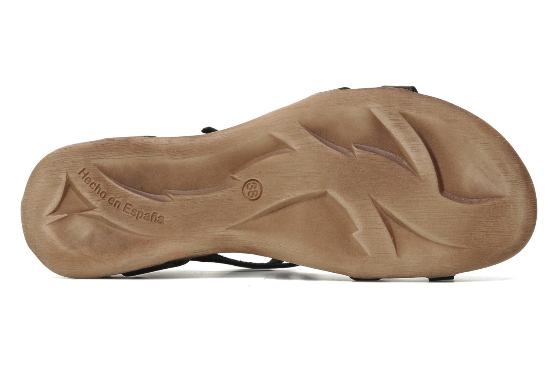 Sandales et nu-pieds Kickers Ana Noir vue haut
