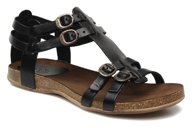 Sandales et nu-pieds Kickers Ana Noir vue détail/paire