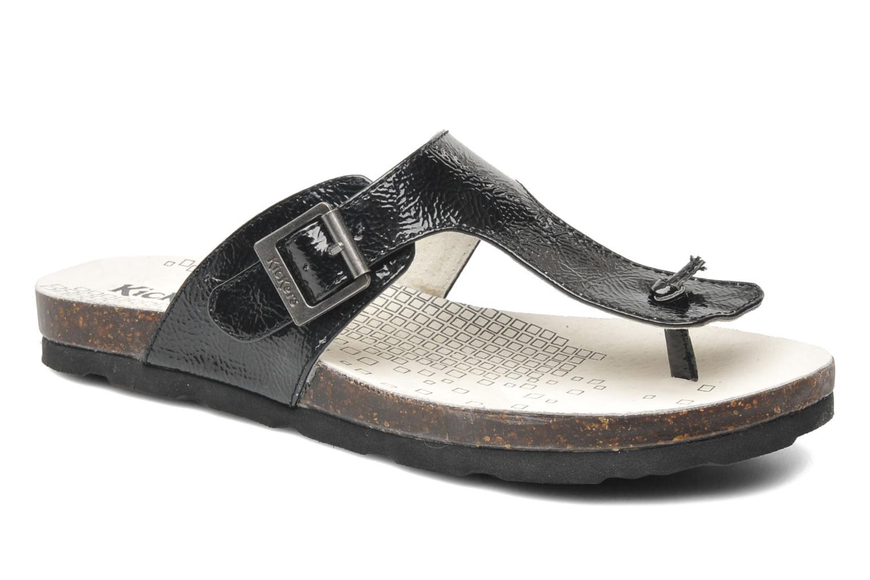 Slippers Kickers DITIK Zwart detail