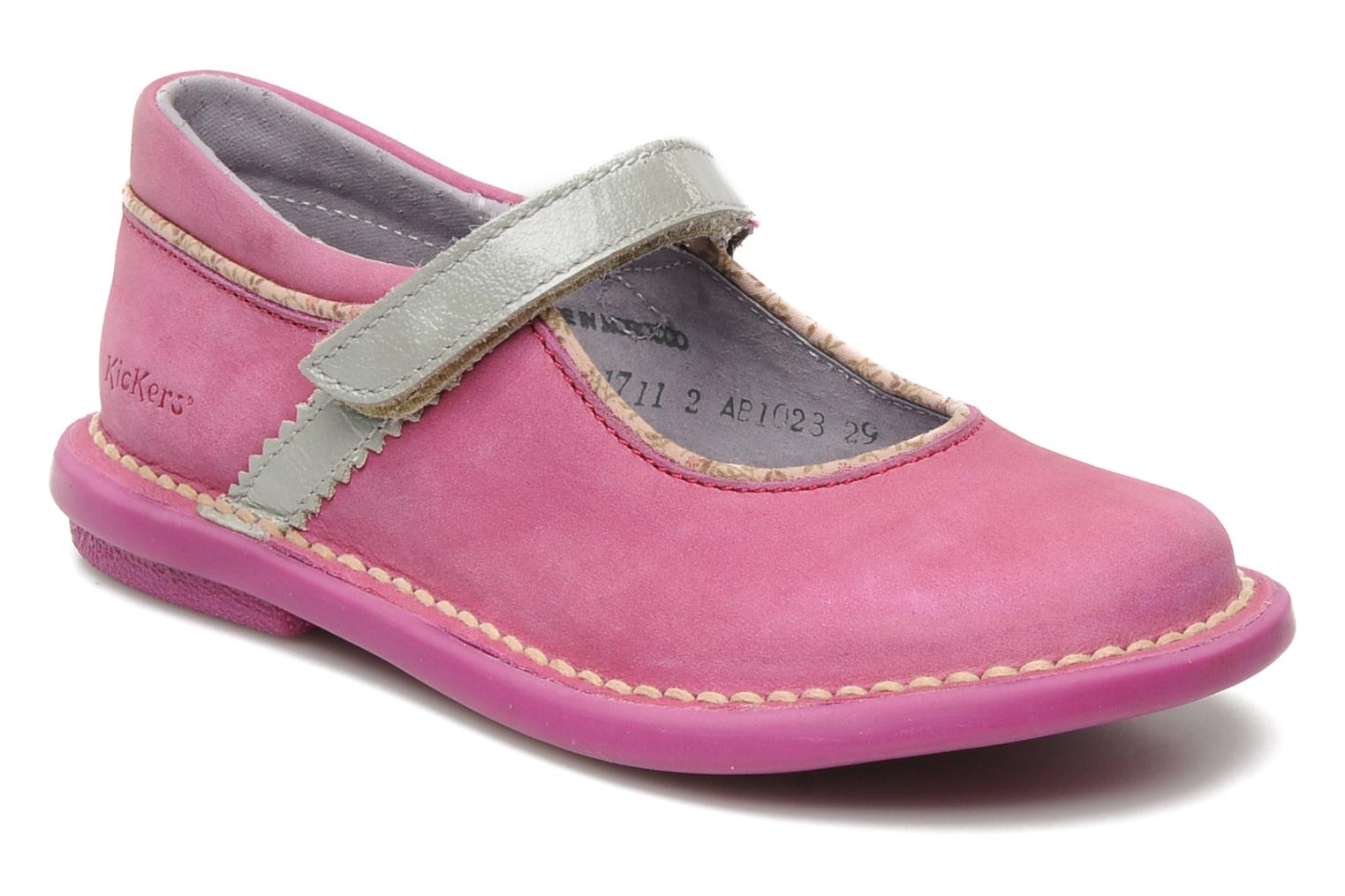 Ballerines Kickers MADELYN Rose vue détail/paire