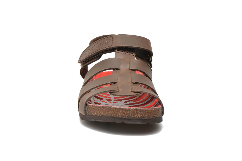 Sandales et nu-pieds Kickers MAGINO Marron vue portées chaussures
