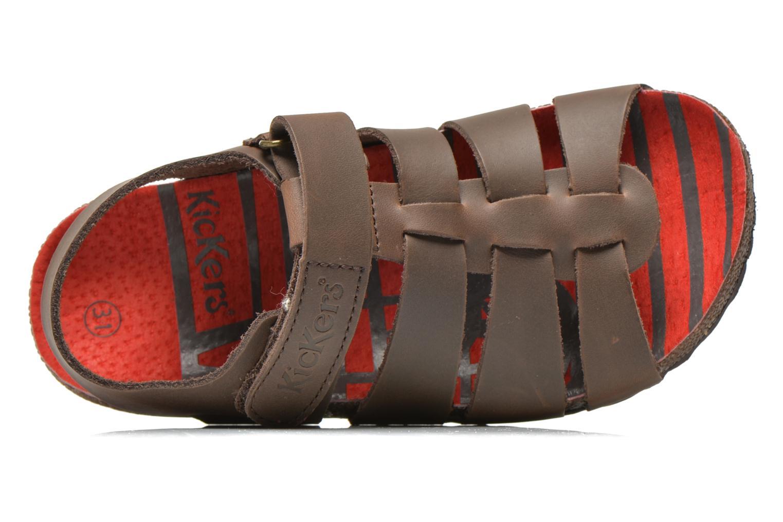 Sandales et nu-pieds Kickers MAGINO Marron vue gauche