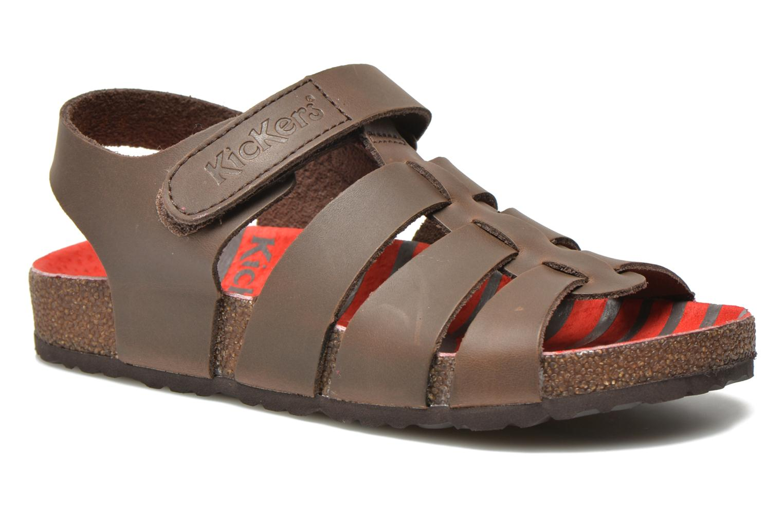 Sandales et nu-pieds Kickers MAGINO Marron vue détail/paire