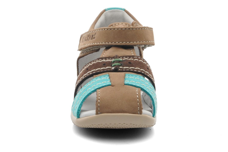Sandales et nu-pieds Kickers BIGBAZAR Marron vue portées chaussures