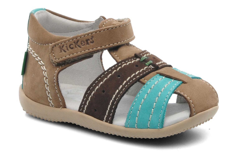 Sandales et nu-pieds Kickers BIGBAZAR Marron vue détail/paire