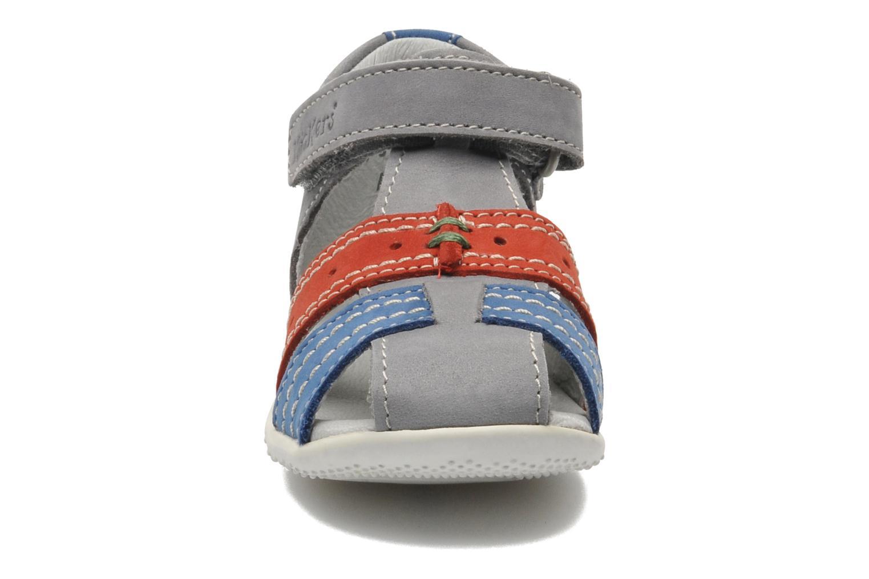 Sandalen Kickers BIGBAZAR grau schuhe getragen