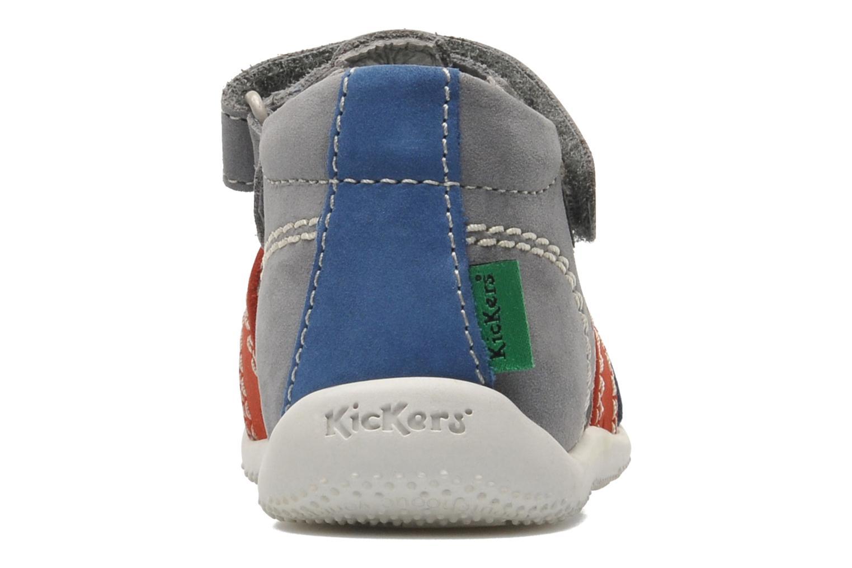 Sandalen Kickers BIGBAZAR grau ansicht von rechts