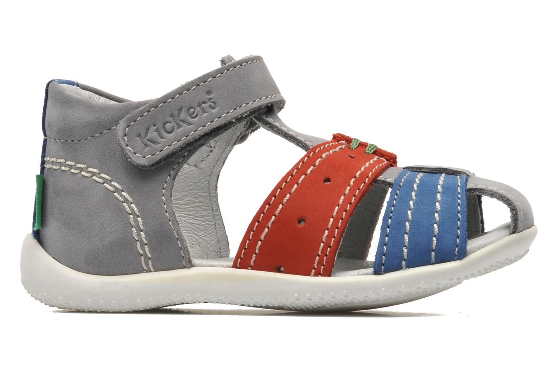Sandalen Kickers BIGBAZAR grau ansicht von hinten