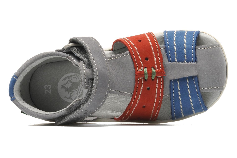 Sandalen Kickers BIGBAZAR grau ansicht von links