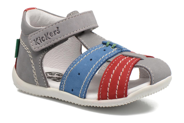Sandales et nu-pieds Kickers BIGBAZAR Gris vue détail/paire