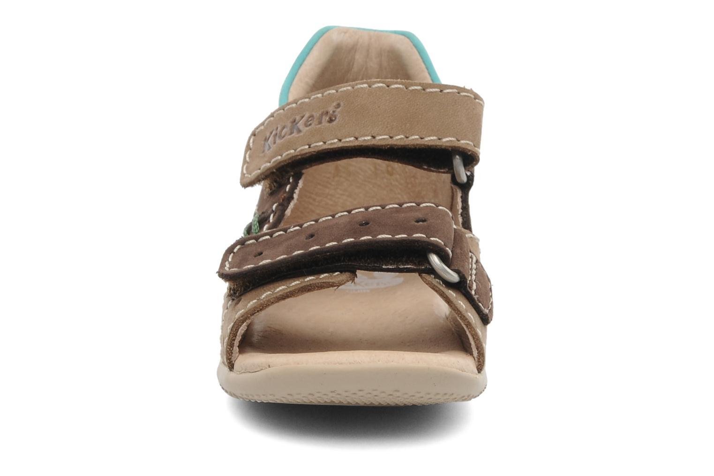Sandalen Kickers BOPING braun schuhe getragen