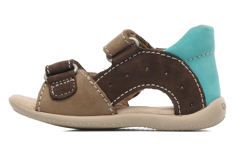 Sandalen Kickers BOPING braun ansicht von vorne