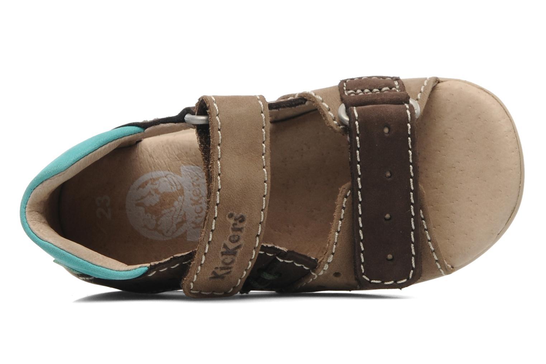 Sandalen Kickers BOPING braun ansicht von links