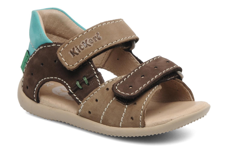 Sandalen Kickers BOPING braun detaillierte ansicht/modell